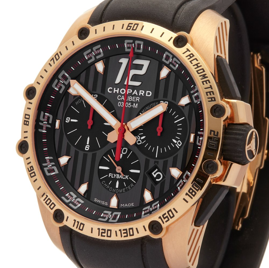 CHOPARD CLASSIC RACING SUPERFAST CHRONO 2013 18K ROSE GOLD 161284-5001