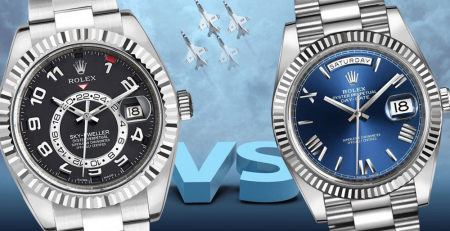 So sánh đánh giá đồng hồ Rolex Sky-Dweller và Rolex Day-Date