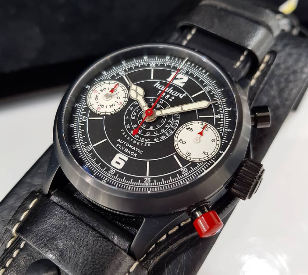 Hanhart Pioneer Stealth 1882 Limited Edition Flyback Chronograph