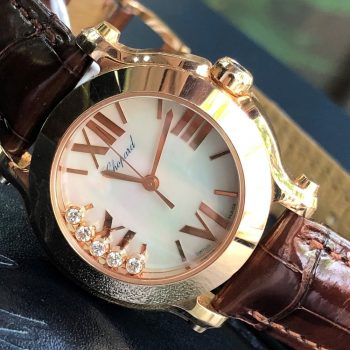 Chopard Ladies Happy Sport 274189-5001 Vàng hồng 18k