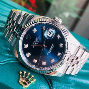 Rolex Datejust 116234 mặt xanh cọc số kim cương Fullbox 2016