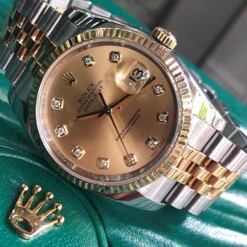 Rolex Datejust 36 Ref. 116233 demi vàng 18k mặt số champagne