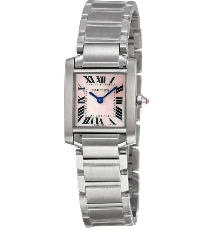 Cartier Women Tank Francaise Pink Mother of Pearl W51028Q3