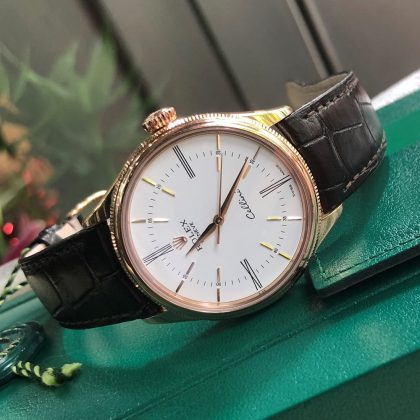 Rolex Cellini 50505 mặt trắng Everose Gold 18k Fullbox 2017 Size 39