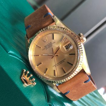 Rolex Datejust 1601 mặt số Champagne Yellow Gold 18k Size 36