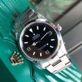 Rolex Explorer 114270 mặt đen cọc số 963 Oystersteel 904L Size 36