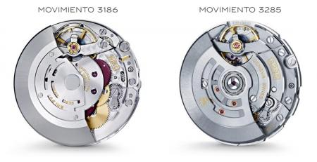So sánh bộ máy Rolex Calibre 3186 với Calibre 3285