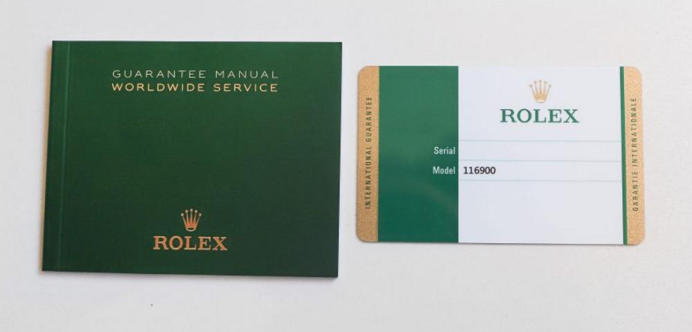 Sách điều khoản dịch vụ và thẻ bảo hành Rolex