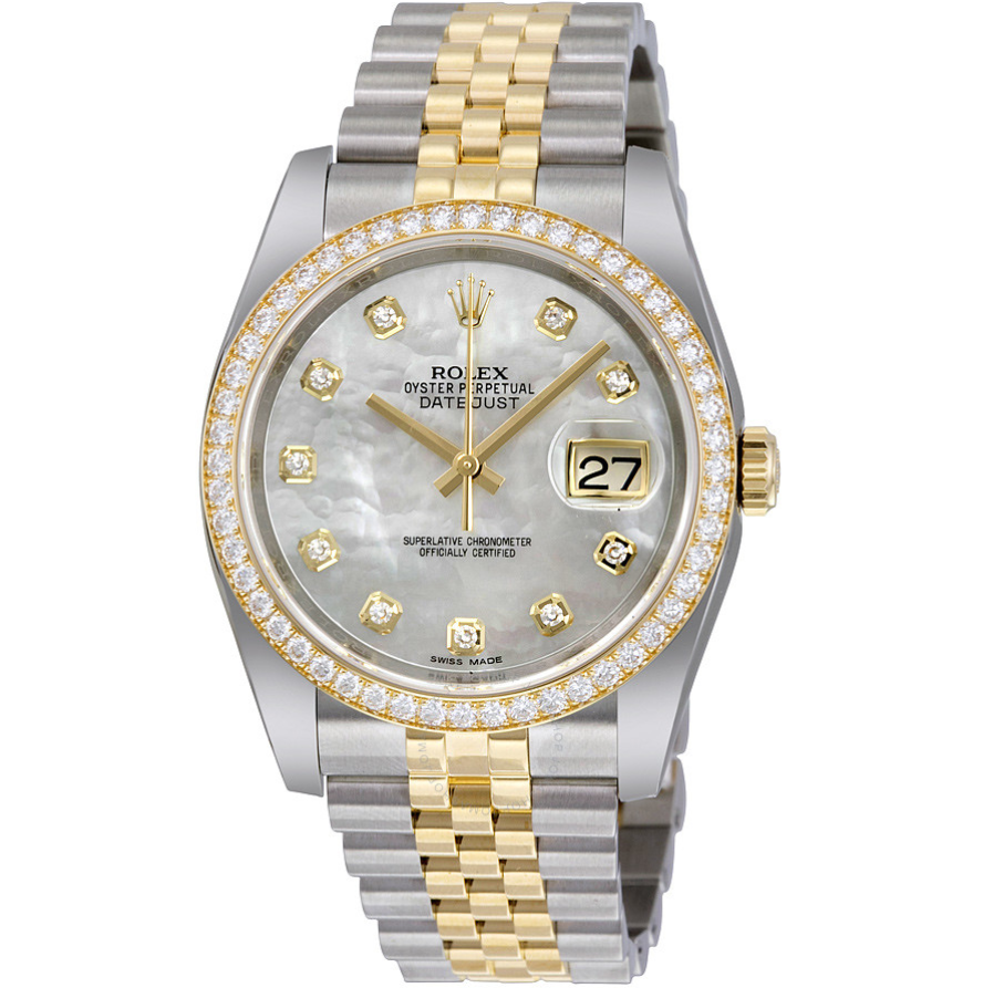 Rolex Datejust mặt số ngọc trai Mother of pearl