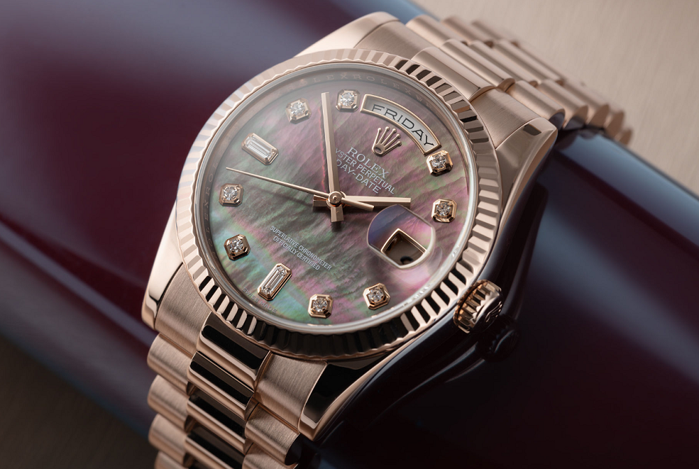 Rolex Day-Date mặt số ngọc trai Mother of pearl