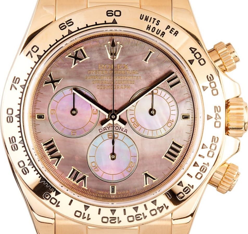 Rolex Daytona mặt số ngọc trai Mother of pearl