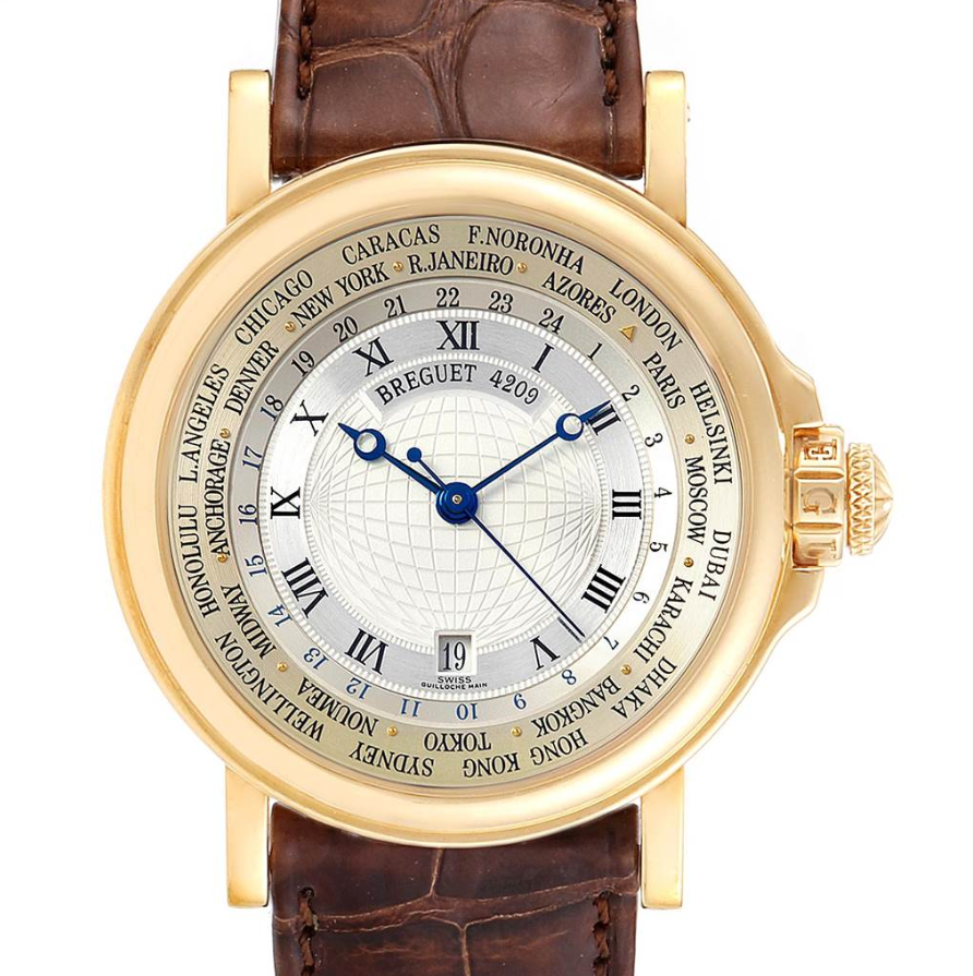 Breguet Marine World Time Hora Mundi 18K Yellow Gold