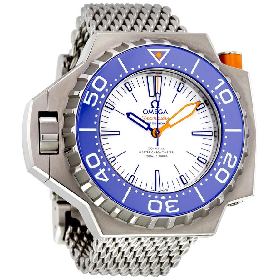 Omega seamaster ploprof white dial automatic 227.90.55.21.04.001