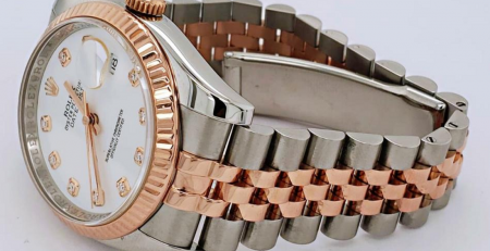 Rolex Datejust 36 Ref. 116231-0060 White Diamonds Dial Rolesor Everose Gold