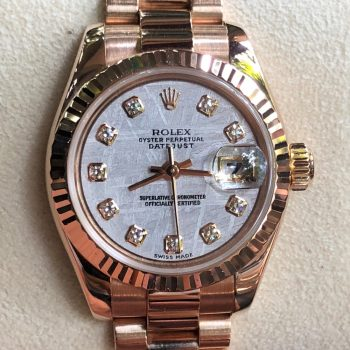Rolex Lady-Datejust 179175 Meteorite Dial Everose Gold 18k