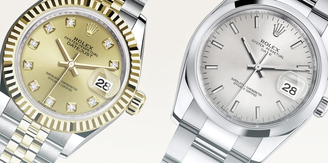 Sự khác biệt giữa Rolex Datejust và Rolex Date là gì?