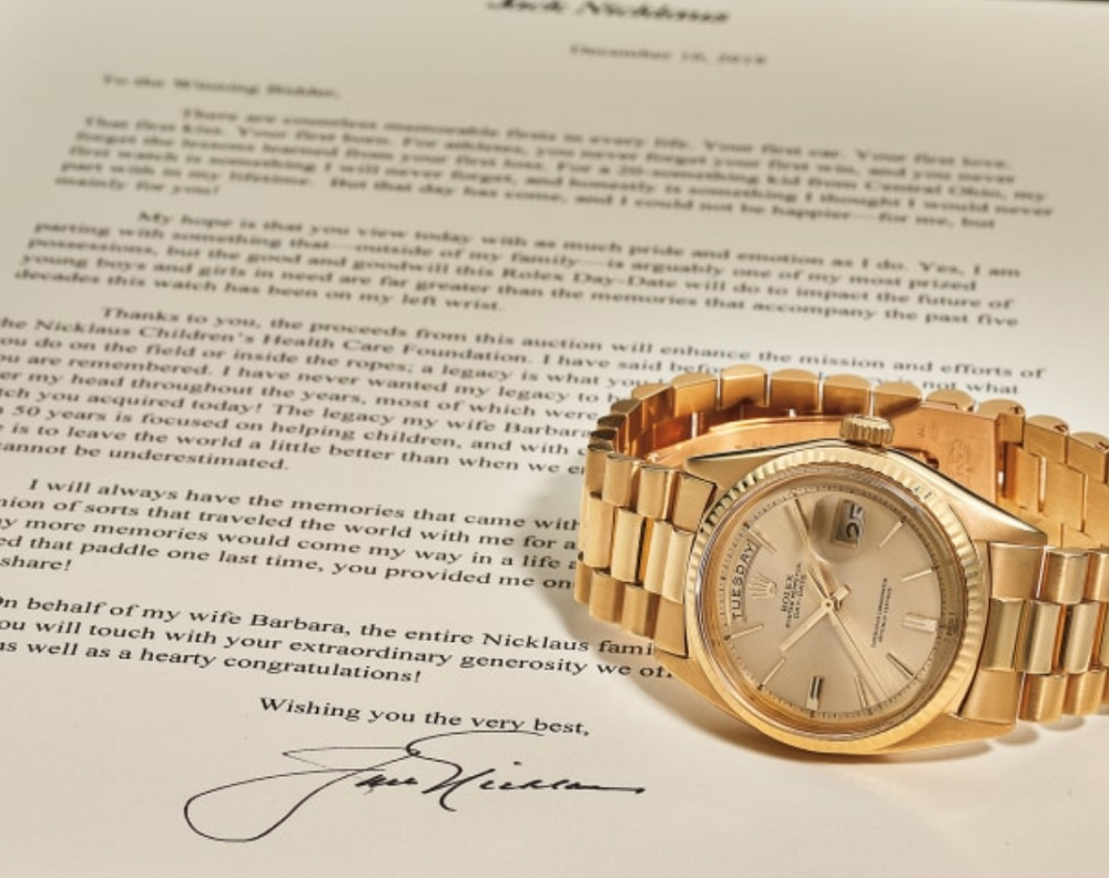 Rolex Day-Date vàng khối của Jack Nicklaus