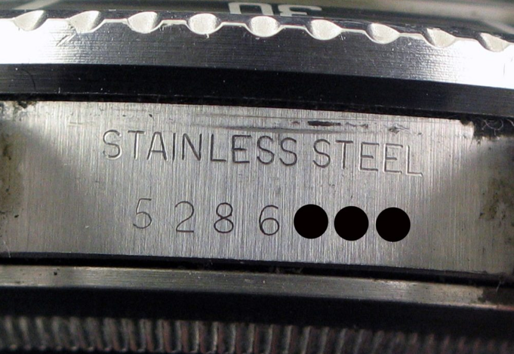 Serial Number được tìm thấy trên vỏ Rolex