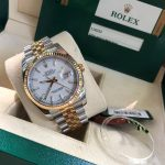 rolex-datejust-116233-mat-trang-rolesor-yellow-18k-bezel-fluted-fullbox