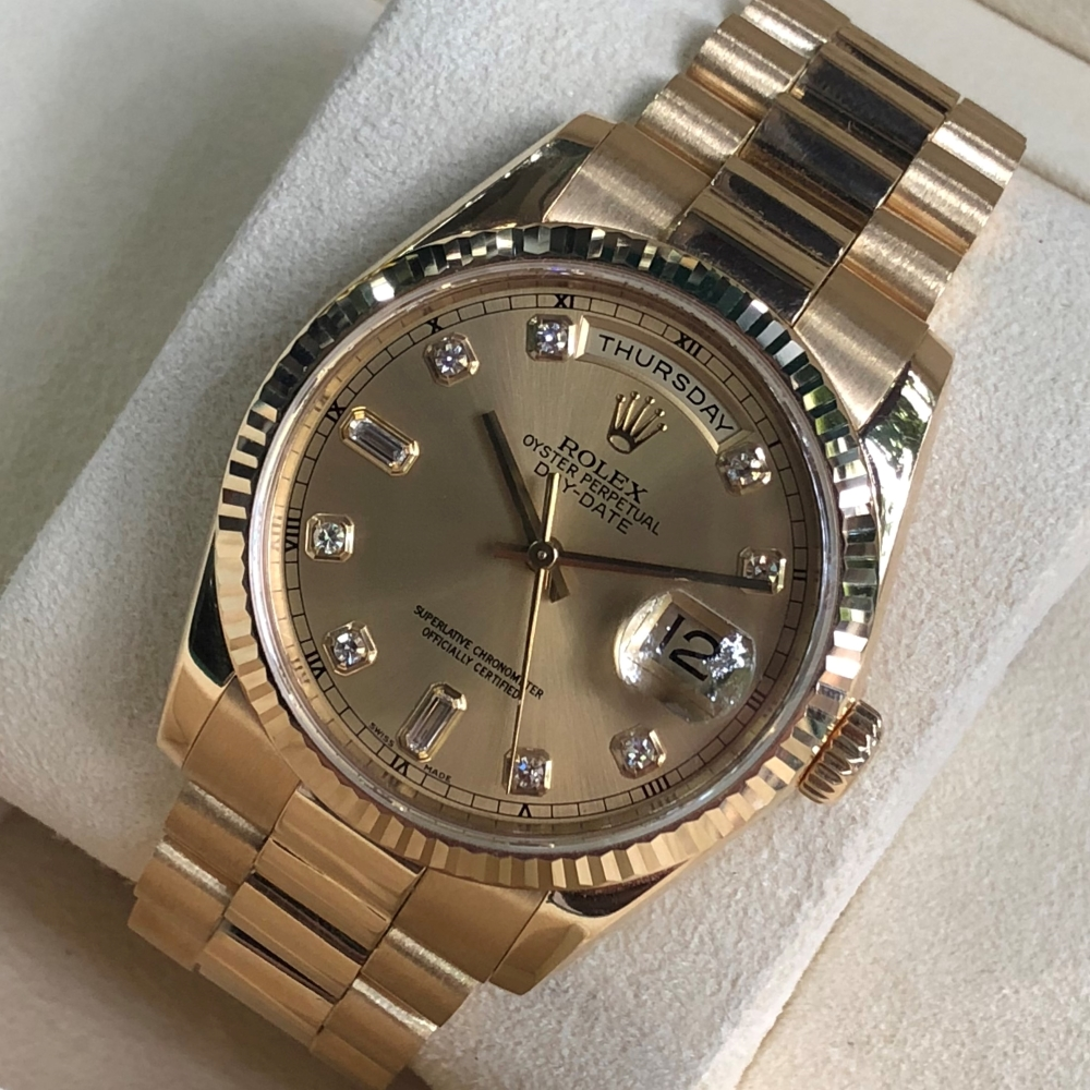 rolex-day-date-36-ref-118238-champagne-dial-yellow-gold-18k-bezel-fluted-1