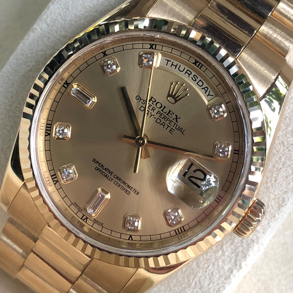 rolex-day-date-36-ref-118238-champagne-dial-yellow-gold-18k-bezel-fluted-2