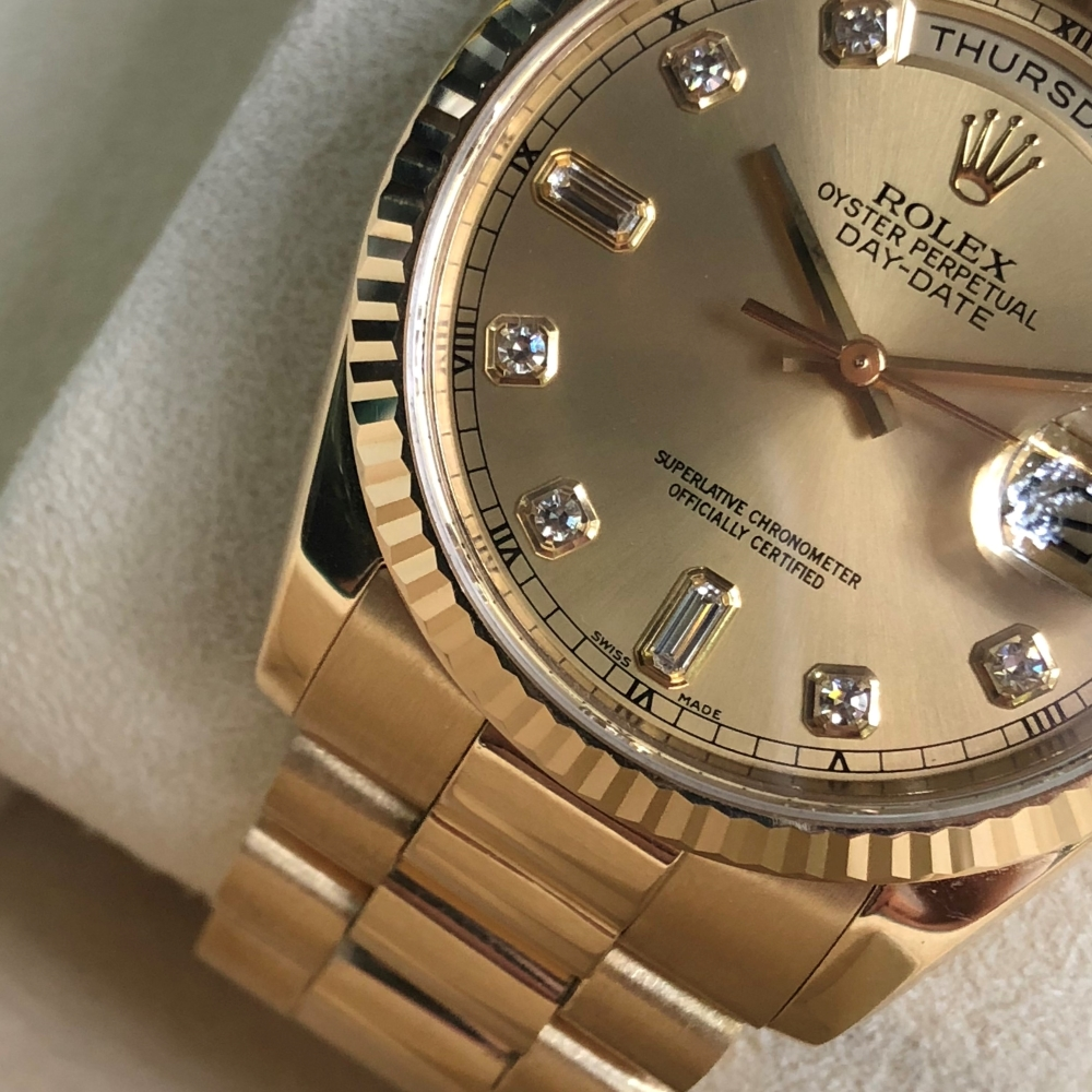 rolex-day-date-36-ref-118238-champagne-dial-yellow-gold-18k-bezel-fluted-3