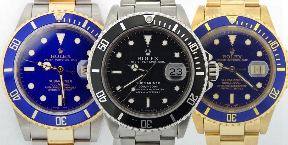 Tìm hiểu các loại mặt số đồng hồ Rolex Subamriner