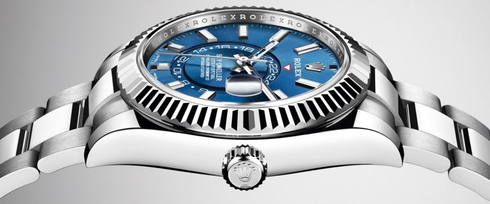 Rolex Sky-Dweller 326934 thép mặt số Sunburst Blue