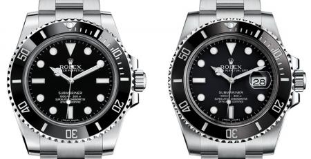 Lựa chọn Rolex Submariner Date hay Rolex Submariner No Date?