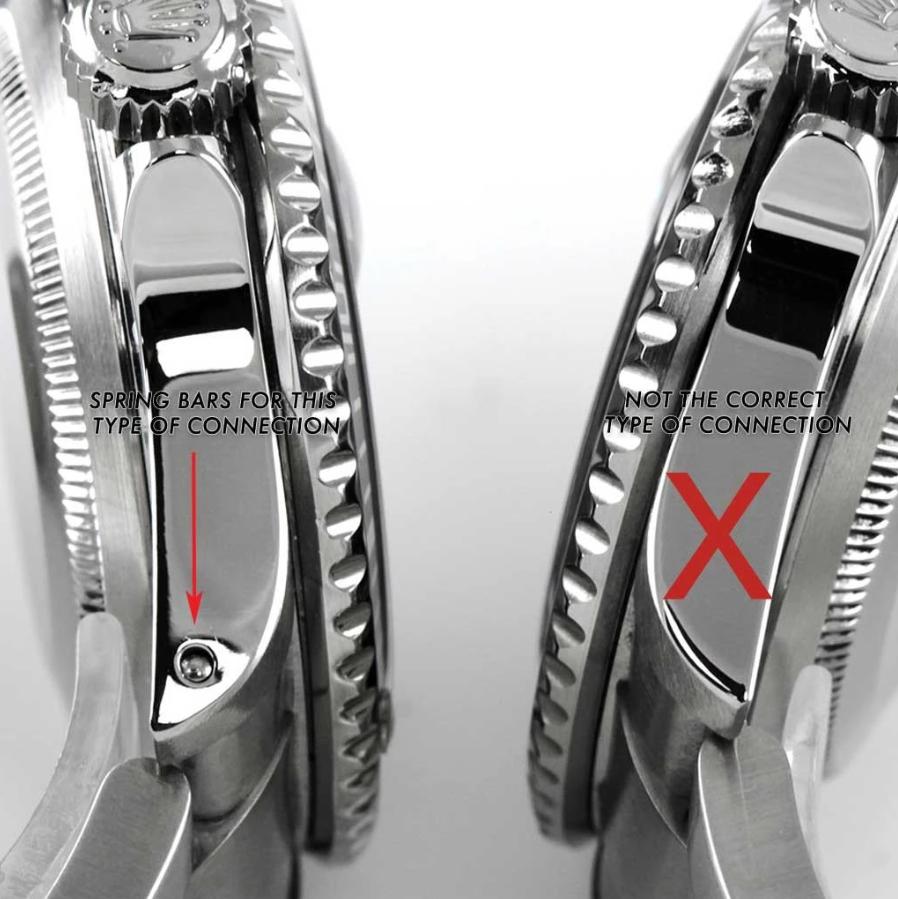 Rolex có và không có lỗ Lug
