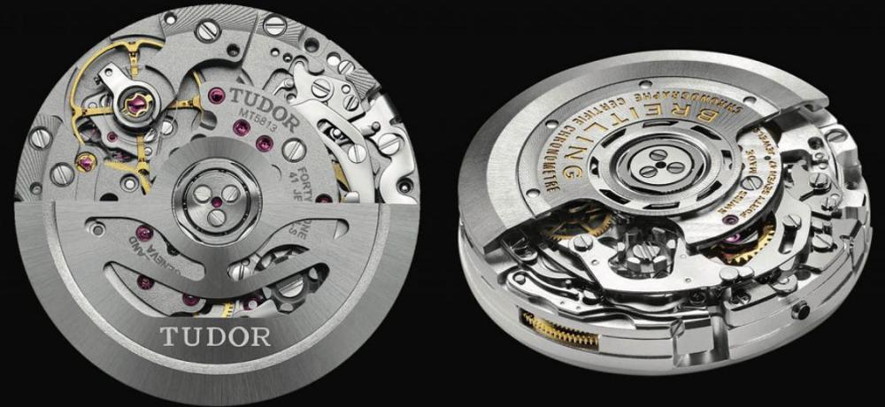 Tudor Caliber MT5612 và Breitling Caliber B01