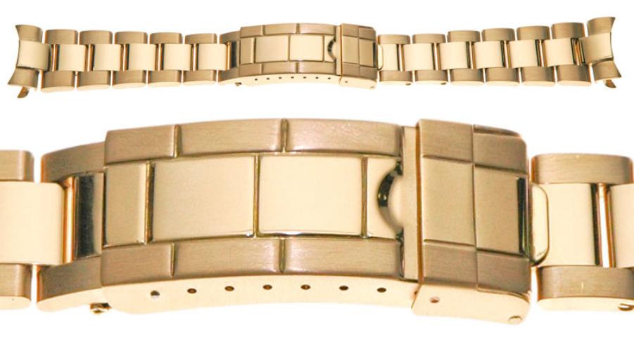dây đeo đồng hồ Rolex Oyster vàng đầy đủ