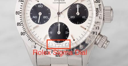 Mặt số Rolex Sigma là gì?