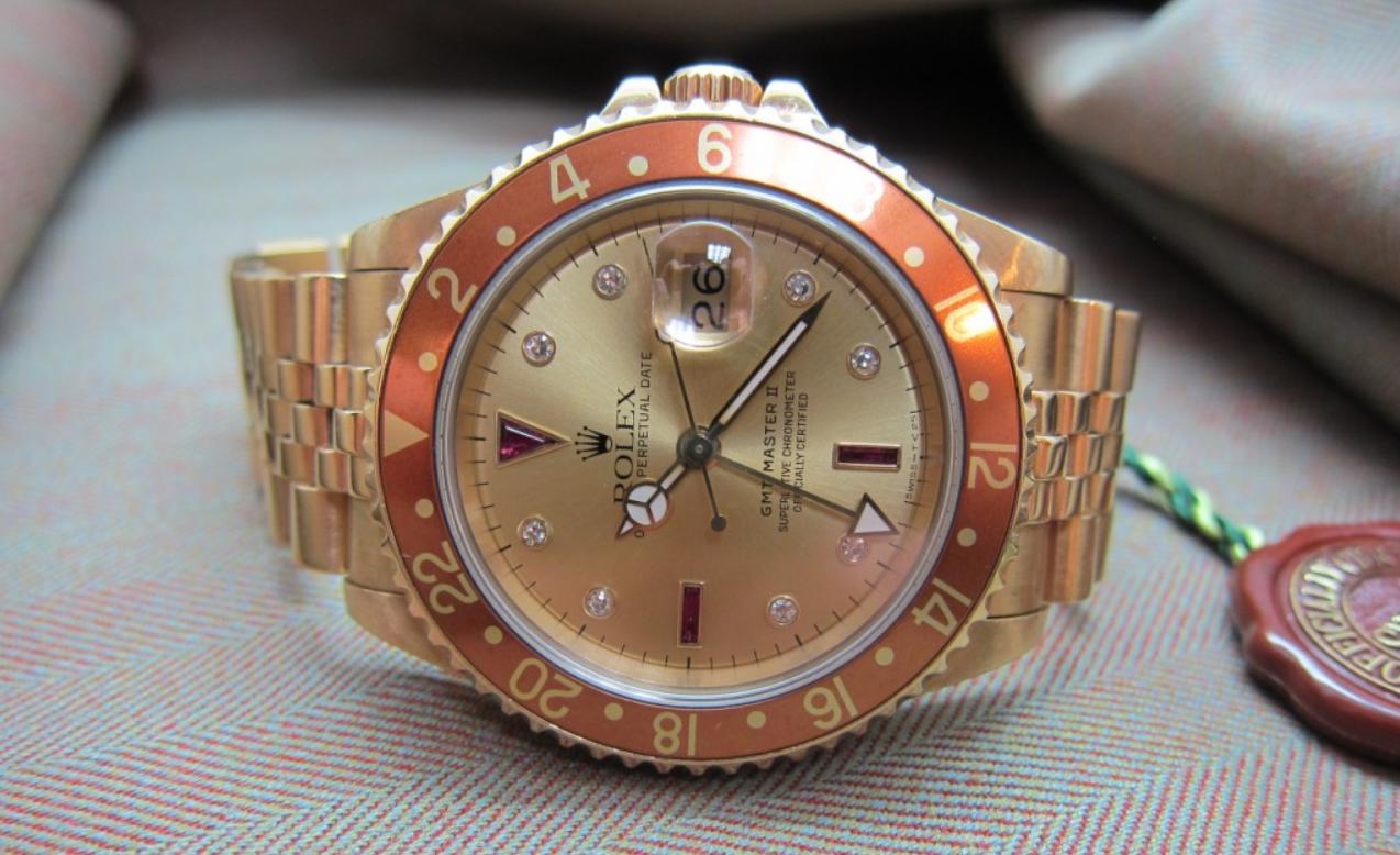 Mặt số Rolex GMT-Master Serti