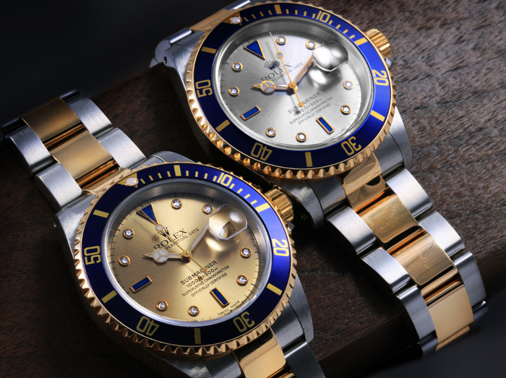 Mặt số Rolex Submariner Serti