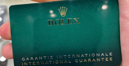 Thẻ bảo hành Rolex 2020