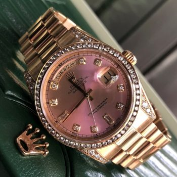 Rolex Day-Date 118338 Yellow Gold 18k Bezel Diamond Fullbox 2005