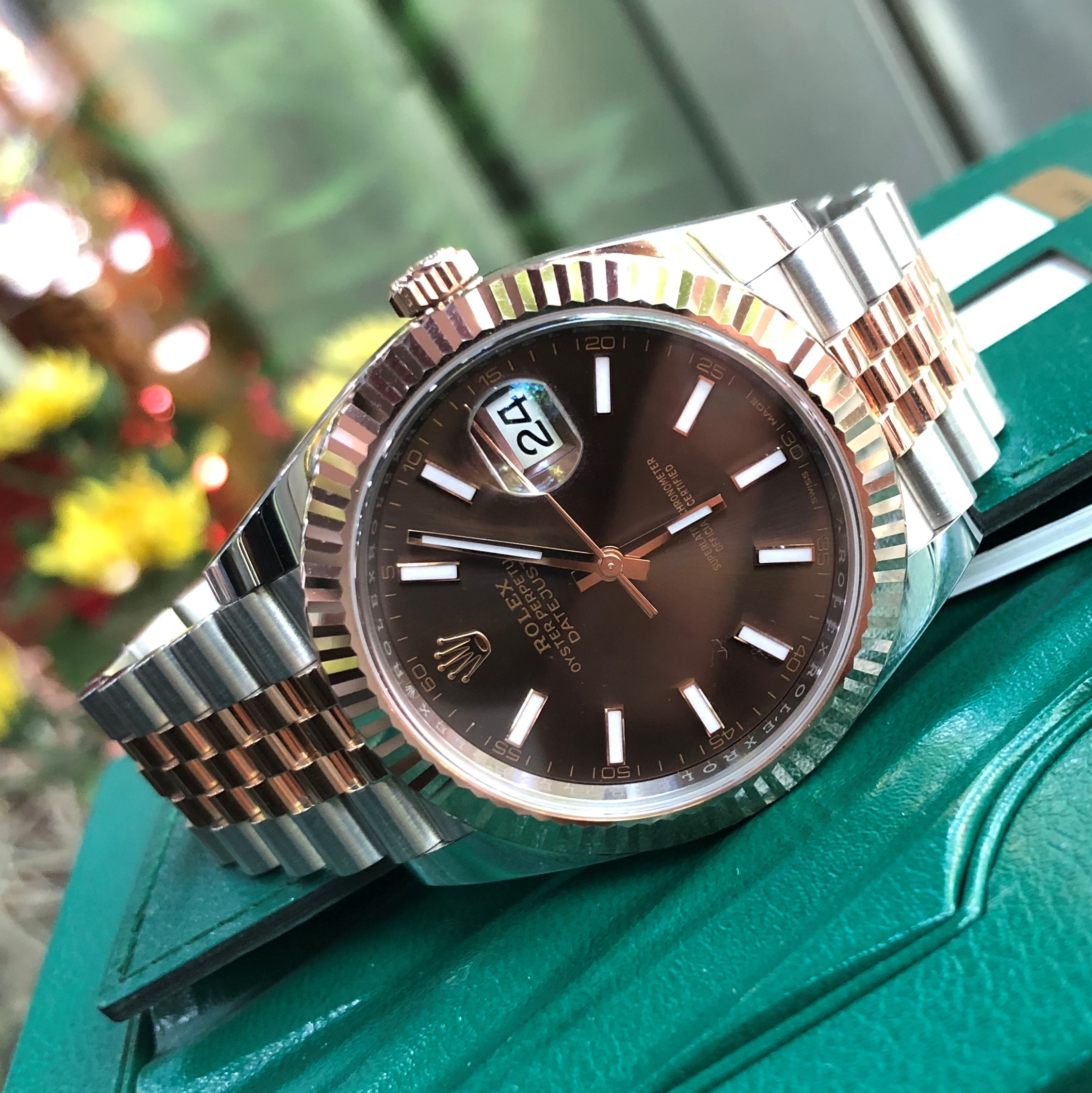 Rolex Datejust 126331 Chocolate Dial Everose Rolesor