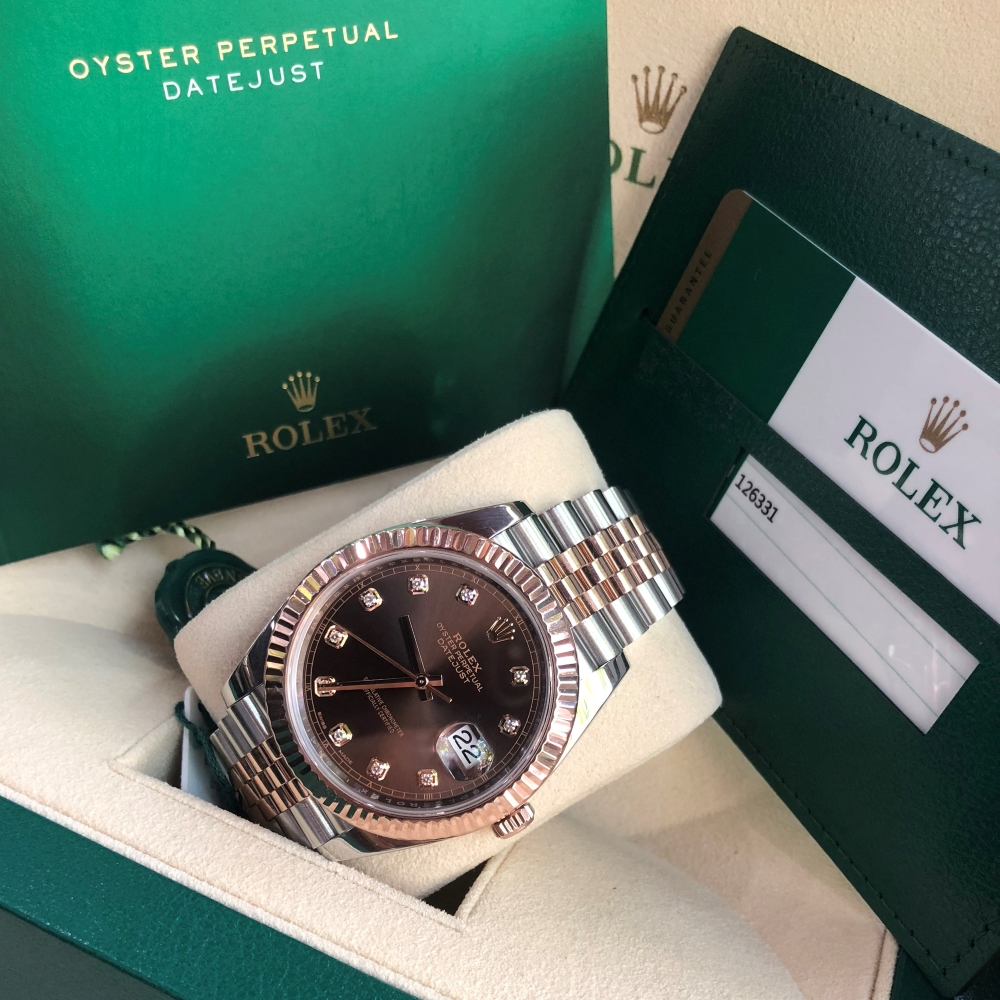 Rolex-Datejust-II-Everose-Rolesor-126331-Chocolate-Diamond-Dial-3