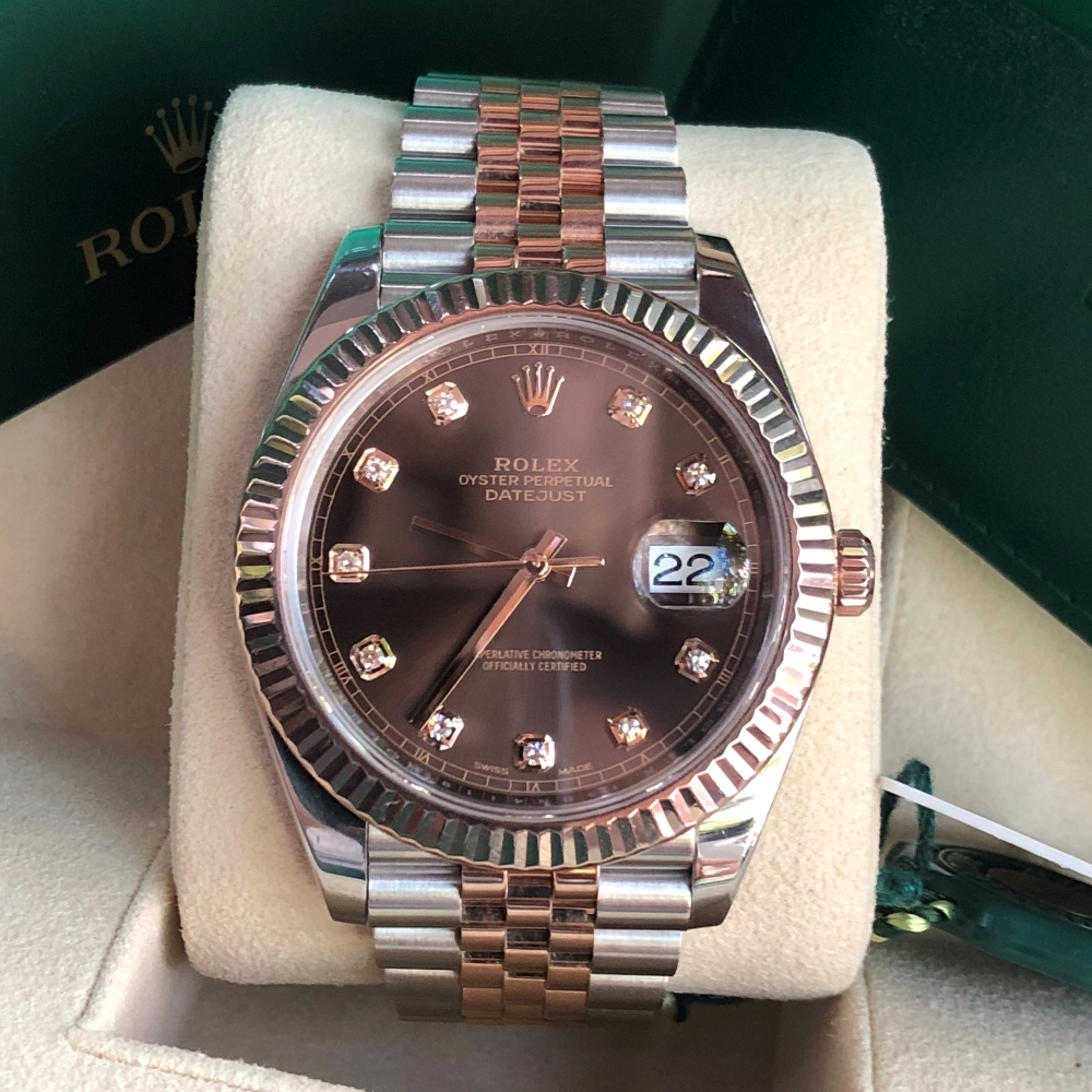Rolex-Datejust-II-Everose-Rolesor-126331-Chocolate-Diamond-Dial-4