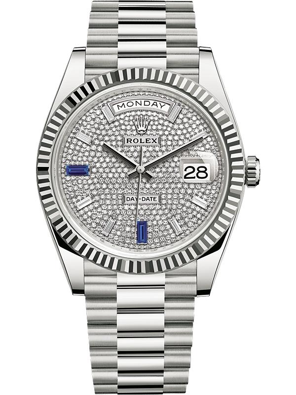 Rolex Day-Date 40mm White Gold & Diamonds