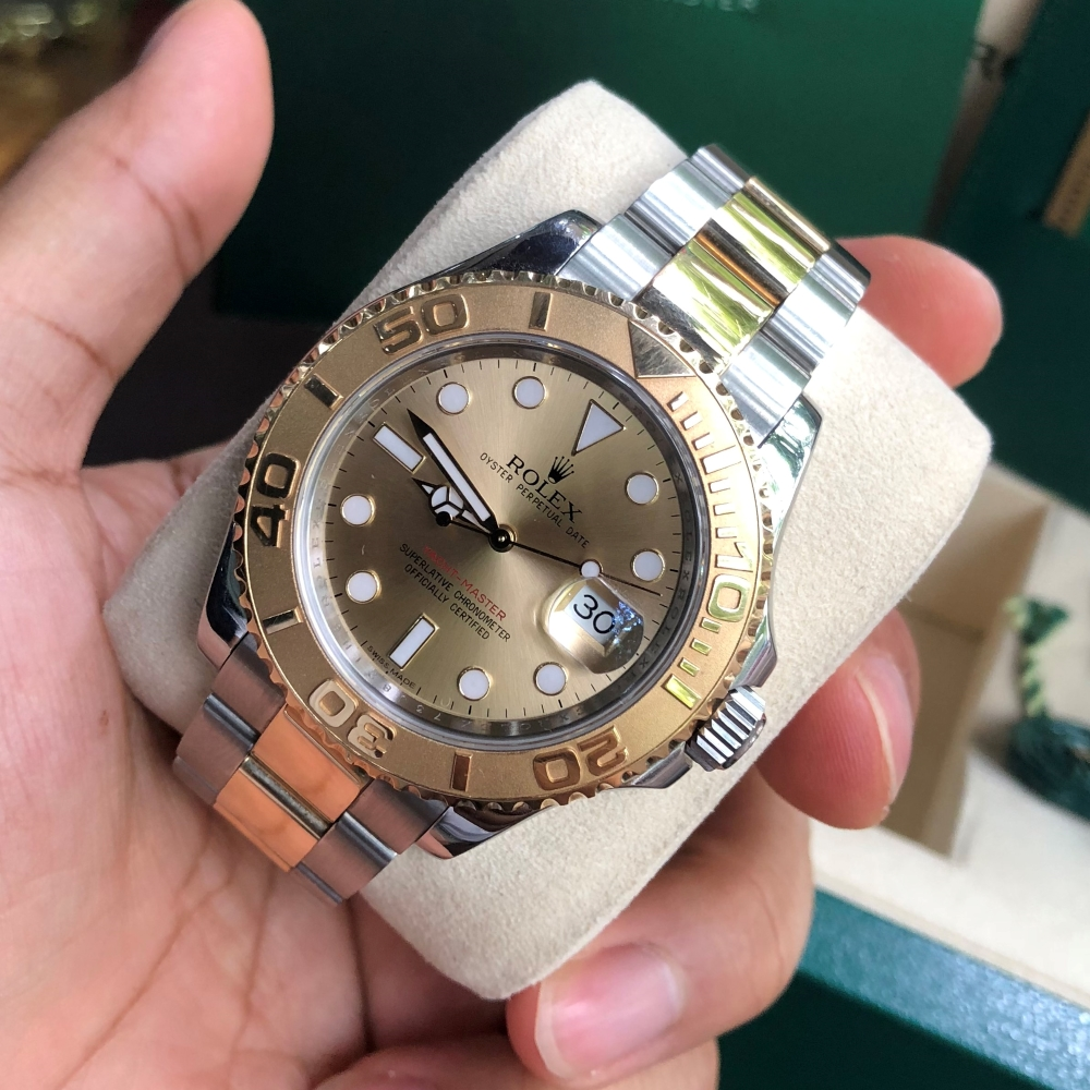 Rolex Yacht-Master 16623 Champagne Dial Yellow Rolesor