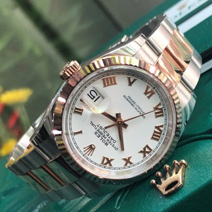 Rolex Datejust 126231 White Dial Everose Rolesor Fullbox 2019