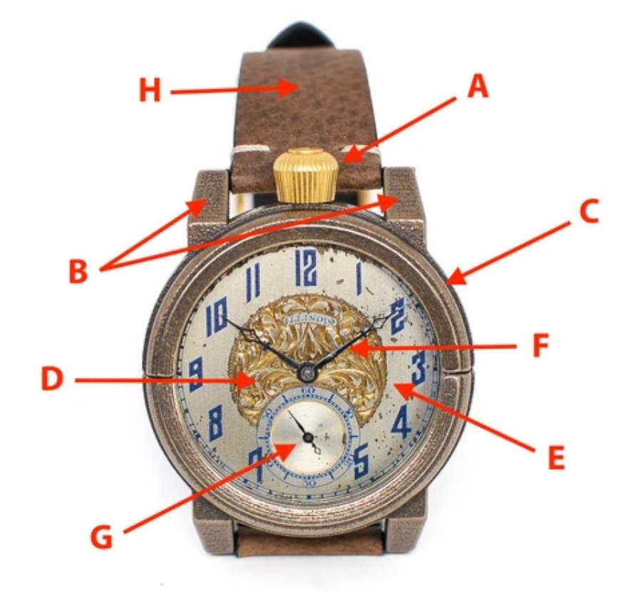 Các bộ phận cơ bản của đồng hồ