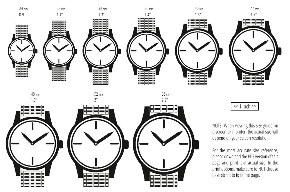 Làm thế nào để xác định kích thước đồng hồ?
