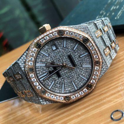 Audemars Piguet Size 37mm Full Diamond Rose Gold 18k
