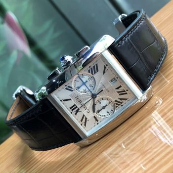 Cartier Tank MC W5330008 Automatic White Dial Chronograph