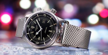 Longines Legend Diver đồng hồ ăn mặc lấy cảm hứng Vintage
