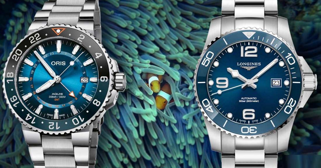 Oris Aquis và Longines Hydroconquest: Đồng hồ lặn nào tốt nhất?