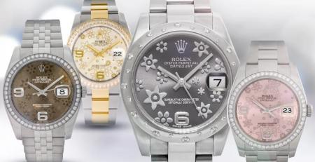 Những mẫu đồng hồ Rolex mặt số hoa tuyệt đẹp